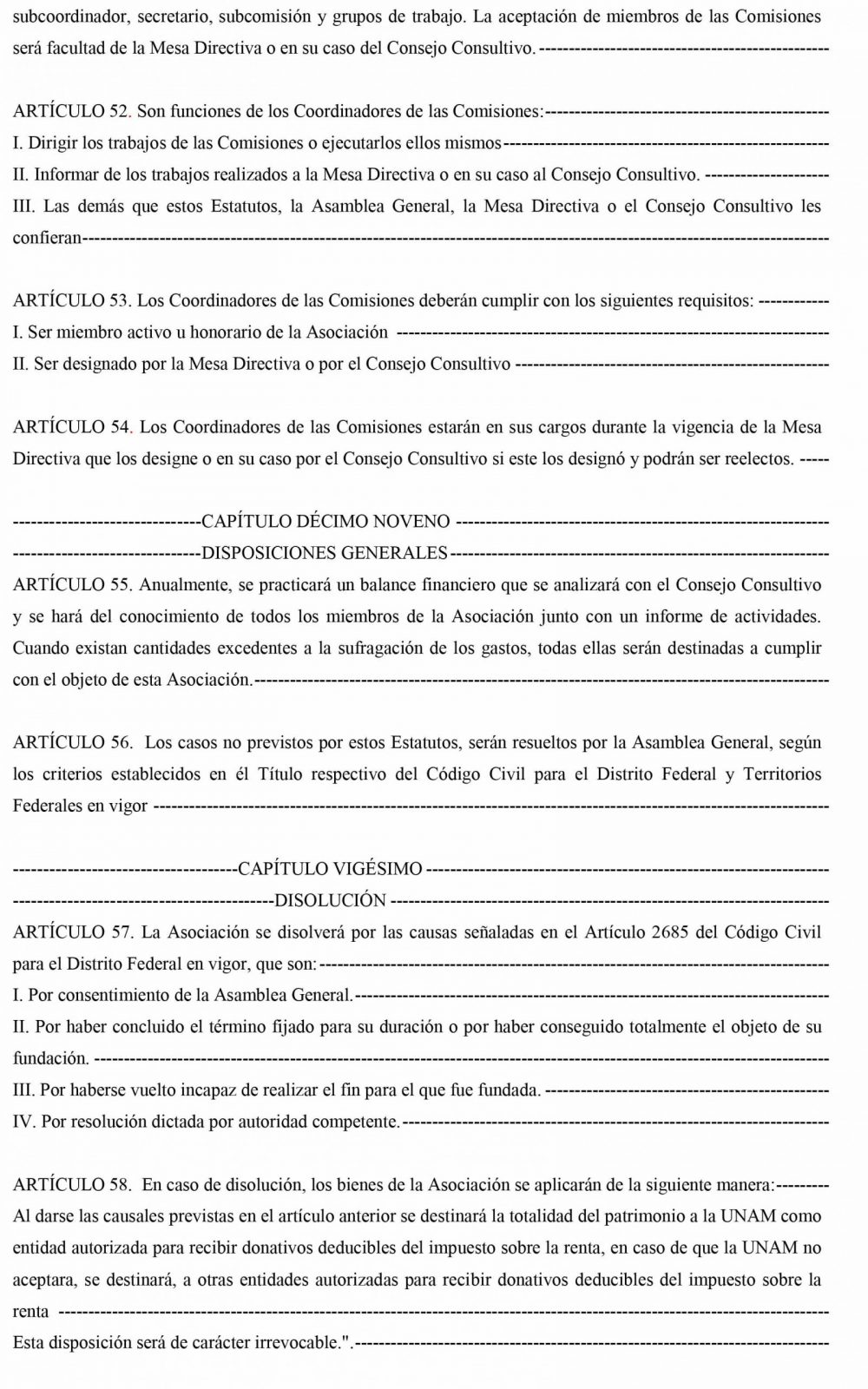 Estatutos Septiembre 2021